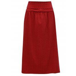 Červená vzorovaná maxi sukně / šaty Tranquillo Viola