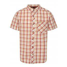 Krémovo-červená pánská kostkovaná košile BUSHMAN Inez