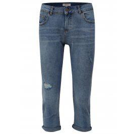 Modré zkrácené straight džíny Dorothy Perkins Petite