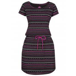Černé vzorované šaty LOAP Alecia