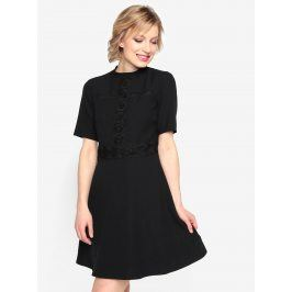 Černé šaty s krajkovými detaily Oasis Lace