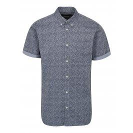 Modrá květovaná slim fit košile Jack & Jones Kevin