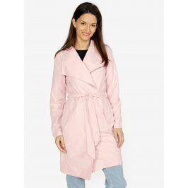 Růžový kabát VERO MODA Elina