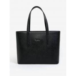 Černá kožená kabelka přes rameno ELEGA Simone