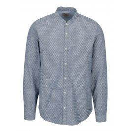 Modrá pánská vzorovaná košile Garcia Jeans Heren