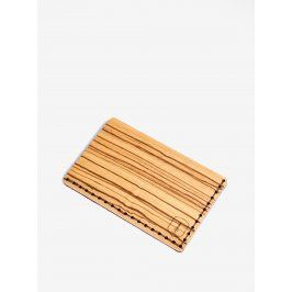 Světle hnědý dřevěný vizitkovník BeWooden Linea Note