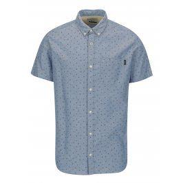 Modrá vzorovaná košile Jack & Jones Premium Murtough