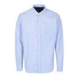 Světle modrá vzorovaná košile SUIT Oxford Dot