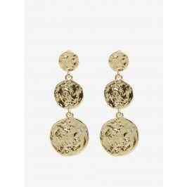 Kulaté náušnice s penízky ve zlaté barvě Pieces Maya