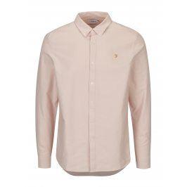Světle růžová slim fit košile Farah Brewer