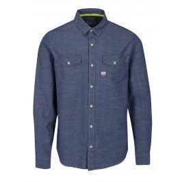 Modrá pánská slim fit košile s jemným vzorem s.Oliver