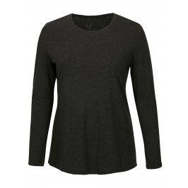 Tmavě šedé žíhané tričko s dlouhým rukávem Ulla Popken