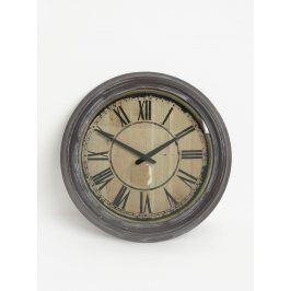Hnědé nástěnné hodiny Dakls
