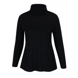 Černé tričko s rolákem a dlouhým rukávem Ulla Popken