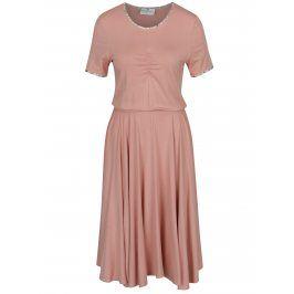 Růžové šaty SEVERANKA