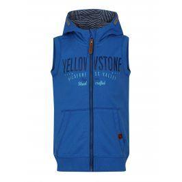 Modrá klučičí mikinová vesta s kapucí LOAP Hytek
