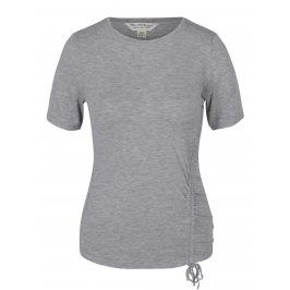 Šedé žíhané tričko se stahováním Miss Selfridge