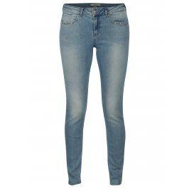 Světle modré skinny džíny s vyšisovaným efektem Scotch & Soda