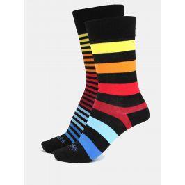 Černé unisex pruhované ponožky Fusakle Extrovert temný