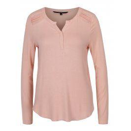 Světle růžové tričko s dlouhým rukávem VERO MODA Ulla