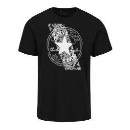 Černé pánské tričko s krátkým rukávem Converse Chuckpatch