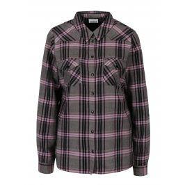 Růžovo-šedá károvaná košile Noisy May Erik