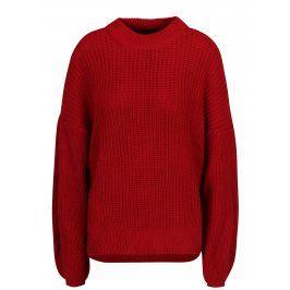 Červený svetr s balónovými rukávy TALLY WEiJL