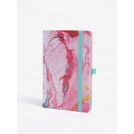 Růžový vzorovaný zápisník Mustard A5