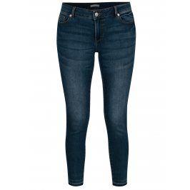 Modré dámské zkrácené skinny džíny s nízkým pasem Jacqueline de Yong