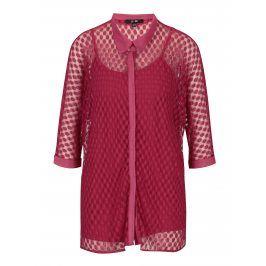 Růžová krajková košile s tílkem Yest