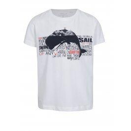 Bílé klučičí tričko s potiskem name it Vux