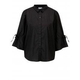 Černá oversize košile s 3/4 rukávem Jacqueline de Yong Cady