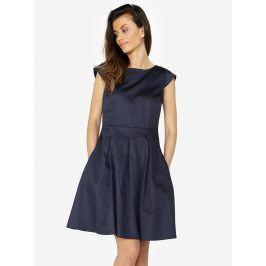 Tmavě modré šaty s áčkovou sukní ZOOT