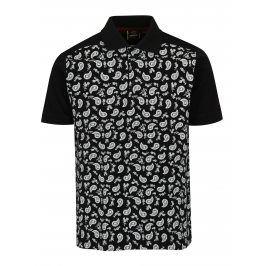 Černé vzorované polo tričko Merc
