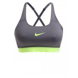 Šedá sportovní podprsenka Nike Classic Strappy Bra