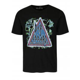 Černé tričko s potiskem ONLY & SONS Def Leppard