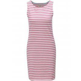 Růžovo-bílé pruhované šaty Tom Joule Jersey