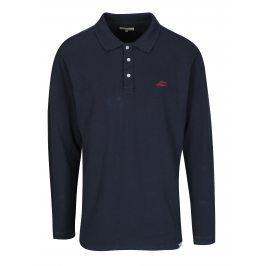 Tmavě modré polo tričko s dlouhým rukávem Shine Original