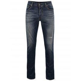 Tmavě modré džíny s potrhaným efektem Jack & Jones Glenn Icon