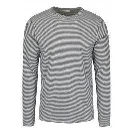 Modro-krémové pruhované tričko s dlouhým rukávem Selected Homme Ray