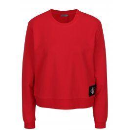 Červená dámská krátká mikina Calvin Klein Jeans