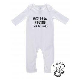 Bílý kojenecký overal ZOOT Kids Bez prsa neusnu