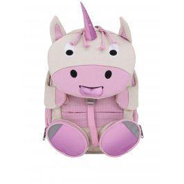 Krémovo-růžový batoh ve tvaru jednorožce Affenzahn 8 l