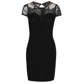 Černé šaty s krajkou v dekoltu Haily´s Teresa