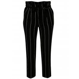 Černo-bílé pruhované zkrácené kalhoty Miss Selfridge