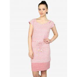 Růžové pruhované žíhané šaty Ragwear Soho Stripes