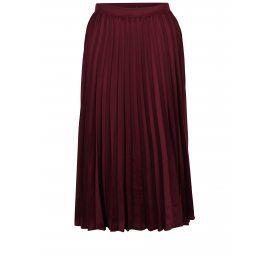 Vínová plisovaná midi sukně ZOOT