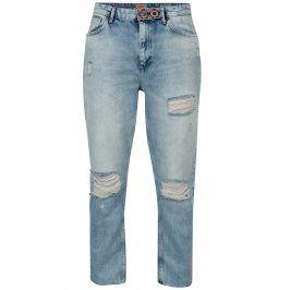 Modré džíny s potrhaným efektem ONLY Kelly