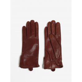 Hnědé dámské kožené rukavice s kašmírovou podšívkou Royal RepubliQ