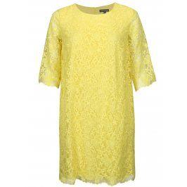 Žluté krajkové šaty Ulla Popken